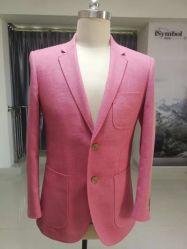 2019 верхней части моды тонкий мужской куртки Блейзер в розовый J-20167