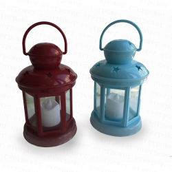 Tem Proteção contra o furacão velas LED decorativas Camping Lantern