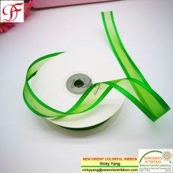 Nastro di nylon del Organza con il bordo del raso per gli archi della decorazione/di spostamento/capelli