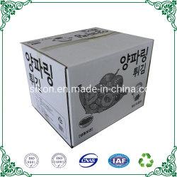 Гофрированный картон белого цвета пользовательского размера в салоне продовольственной упаковке