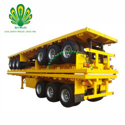 Shengrun 3대의 반 차축 실용적인 콘테이너 평상형 트레일러 트레일러 및 트럭