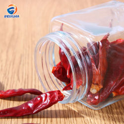 Горячая продажа продуктов питания из прозрачного стекла 500 мл меда бачок кувшин блендера специй с крышкой