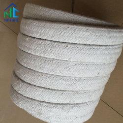 1260C de la corde de fibres de céramique avec Ss fil, avec acier inoxydable et fibre de verre, carré/corde tressée ronde tissé
