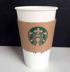 Het composteerbare Wegwerpproduct paste de Hete het Drinken Kop van het Document van de Koffie Hete met Deksel aan
