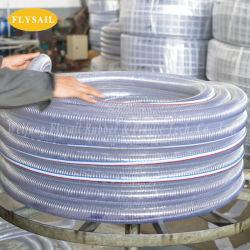 Tubo di rinforzo di plastica del tubo del filo di acciaio del PVC del tubo flessibile di pressione di Heavey per lo scarico della polvere dell'olio dell'acqua