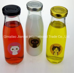 Botella de zumo de vidrio están ajustadas, bebidas Botella, vaso de zumo de frutas