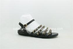 Новая мода комфорт плоские Бич Леди сандалии