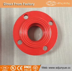Dn15-200 de ferro fundido nodular Adaptador de ferro de combate a incêndio flange ranhurada