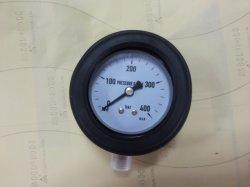 """63mm 2.5"""" pleine en acier inoxydable avec couvercle en caoutchouc de la jauge de pression"""