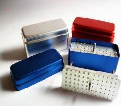 72개의 구멍이 있는 알루미늄 치과용 다이아몬드 버 홀더 박스