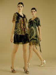 100% 실크 유행 여자의 복장 (FNB88197)