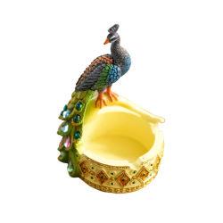 [هغ25] 2020 عادة تصميم حديقة عصفور نحت منزل زخرفيّة راتينج طاووس تصاميم