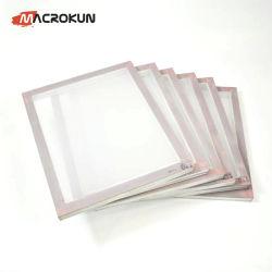 Aluminiumbildschirm-Drucken-Bildschirme, sortieren 15 x 17 Zoll Vor-Ausgedehnter Silk Bildschirm-Rahmen (110 Weiß-Ineinander greifen)