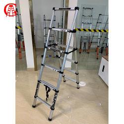 De gemakkelijke Vouwbare LichtgewichtFunctie die van het Doel van het Aluminium MultiLadder van de Stap van het Binnenlandse Gebruik de Draagbare vouwen
