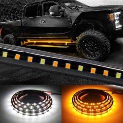 Máquina em Funcionamento das luzes de placa de LED âmbar Kit do Marcador Lateral 70polegadas 216 Barra de LED Bed faixa luminosa para picapes carros SUV Trabalhar Van (placa 1070)
