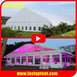 Nuevo diseño de la curva Arcum evento de boda Tienda Marquesina Marquesina con ABS de pared sólida del panel de vidrio