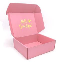 L'impression recto-verso [Baiyue]Rose Boîte à Bijoux en épingle à cheveux de l'avion un emballage cadeau case Logo personnalisé couleur extra dur Case personnalisé
