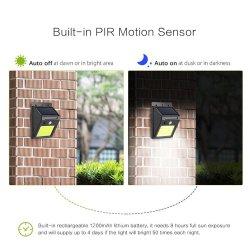 LED étanche IRP mur solaire extérieur sans fil lumineux LED du capteur de mouvement lumière solaire pour jardin 5.5W de porte avant
