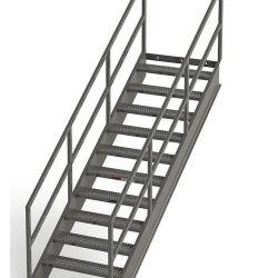 Los andamios de tubos de acero inoxidable Gavanized Bandeja de Cable de bastidor en escalera con jaula de seguridad