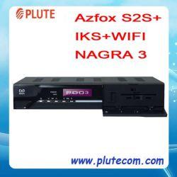 3 Nagra спутниковым декодером HD DVB-S2 Azfox S2s+ с учетной записью IKS Iks (бесплатно)