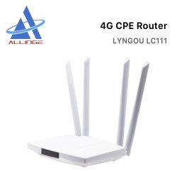 Lyngou LG222 Wholesale Home 300 ميجابت في الثانية Lm321 4G LTE CPE WiFi مودم لاسلكي مع فتحة بطاقة SIM