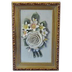 El bastidor de la flor de cerámica artesanal 2380