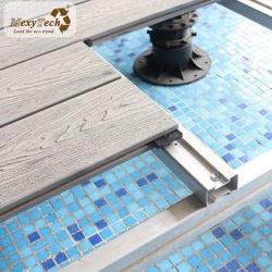 Prueba de agua PEHD de Jardín Terraza Cubierta Deck de madera diseñada en el suelo Decktile WPC