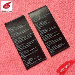 供給服装のための洗浄命令商標によって印刷される取扱表示ラベル