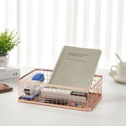북유럽 스타일의 아이언 아트 홈 스토리지 바구니 화장품 저장 상자 데스크탑 이물질 보관 바구니