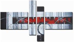 Fine Art abstrait moderne de la peinture huile sur toile (4PAB1236027-MIC01)