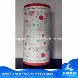 28GSM 3 fogli in PE traspirante completamente laminato stampati a colori simili a panni Non tessuto per pannolino del bambino - 16
