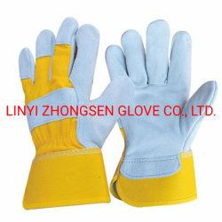 Petite taille des gants de protection du travail du soudeur chiffon jaune haut de la couche d'usine de petits split la main en cuir des gants de soudage électrique meubles court Glo de protection du travail