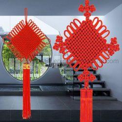 Лидер продаж среди различных размеров красный традиционный китайский узлов для Lucky дома оформление