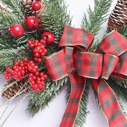 2020 Nuevo diseño de la Navidad Navidad Navidad Corona decorativa Swag guirnalda para la decoración