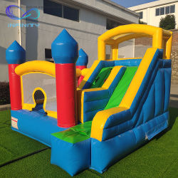 Kundenspezifisches aufblasbares Sprung-Schloss kombiniert mit Plättchen für Kind-Spaß