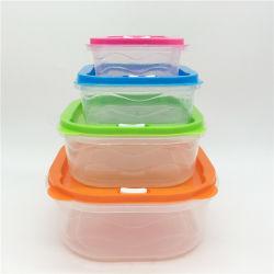 Eco Friendly Boîte à lunch 4PCS Square Rainbow conteneur alimentaire défini