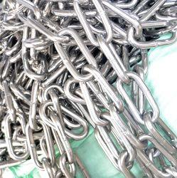 S. S. 304/316 de alta calidad DIN5685c Cadena de eslabones de largo