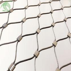 حماية مرنة من الفولاذ المقاوم للصدأ سلك X-يميل حديقة الحيوان النسيج