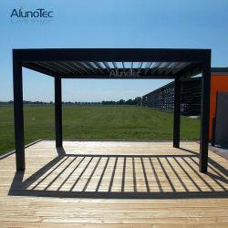Coperchio esterno del Pergola del ristorante di Alunotec con gli schermi e gli indicatori luminosi