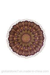 Tapis en soie tissés à la main Round Salon utilisé tapis de plancher (SH-S/C-H-200903)
