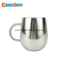 CL1C-M118 Comlom 손잡이를 가진 두 배 벽 스테인리스 귀여운 커피 여행 찻잔