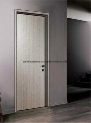 La conception de châssis en aluminium porte d'entrée en bois de l'intérieur du bois