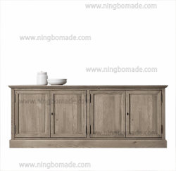 Europäisches Antike-und Weinlese-Küche-Möbel gealtertes Eichen-Ansammlungs-festes Holz mit dem 4 TürenSideboard