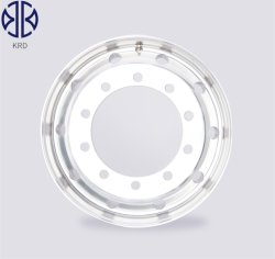 Carretilla forjado pulidas 22,5X11.75 de la rueda de aleación de aluminio