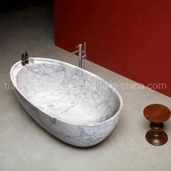 Bianco Carrara/banheira em mármore branco natural para banho