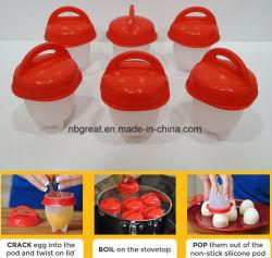 Banheira de vender ovos cozidos rápida de Ovos sem casca de ovo de Silicone Fogão Cup