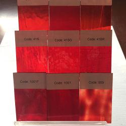 빨간 투명한 색깔 스테인드 글라스 모자이크