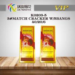 K0203-5-3#Match Crackers met de Gelukkige Voetzoekers van de Koning van de Donder van de Piraat van de Boom 5bangs