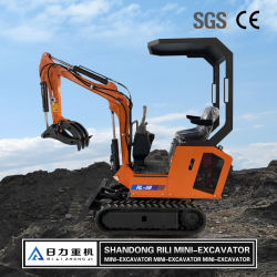 Excavadora utilizada para el hogar Jardín Pala mezclar hormigón con certificado CE miniexcavadora pala cargadora de ruedas compactas, Mini/hidráulica excavadora de cadenas