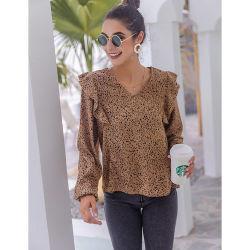 新しいデザイン夏の女性ブラウス及び上の長い袖の女性の上のブラウスおよびTシャツ